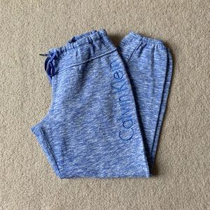 Blue and White Patterned Calvin Klein Joggers